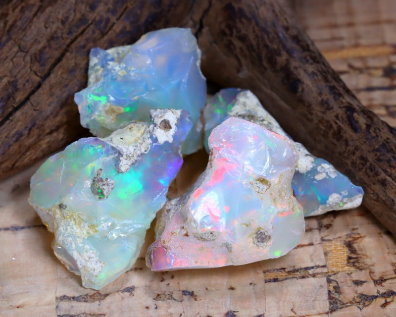 40.43Ct Bright Color Natural Ethiopian Welo Opal Rough B3132
