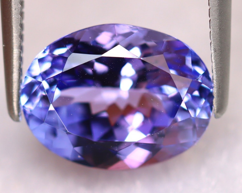 Tanzanite 3.20Ct Natural VVS Purplish Blue Tanzanite ER373/D4