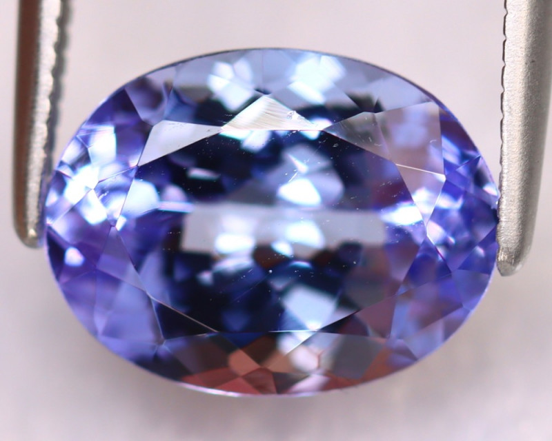 Tanzanite 3.70Ct Natural VVS Purplish Blue Tanzanite ER376/D4