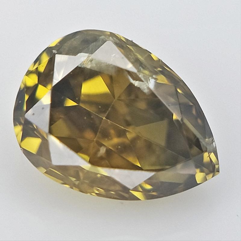 0.12 cts , Pendeloque Cut , Color Diamond