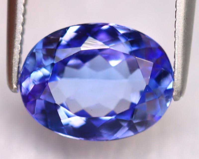 Tanzanite 2.07Ct Natural VVS Purplish Blue Tanzanite ER401/D4
