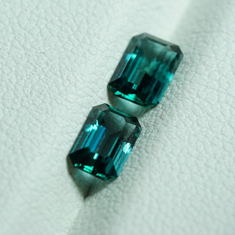 Super Rare PAIR 1.17CT BLUE-GREEN GRANDIDIERITES