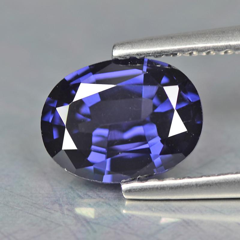 Spinel 1.40 Cts Blue Step cut BGC1181