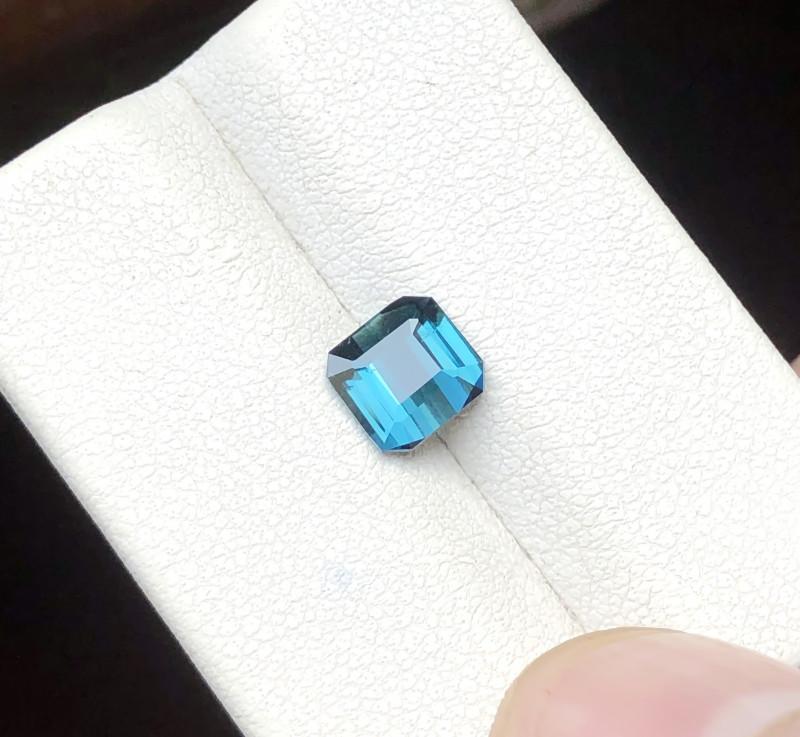 1.20 Ct Natural Blue Indicolite Transparent Ring Size Tourmaline Gemstone