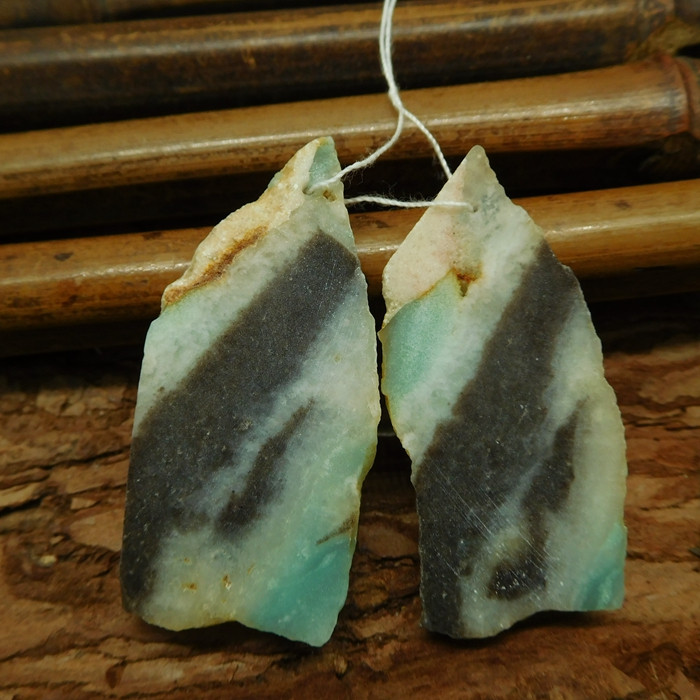 Amazonite nugget earring pairs (G2507)