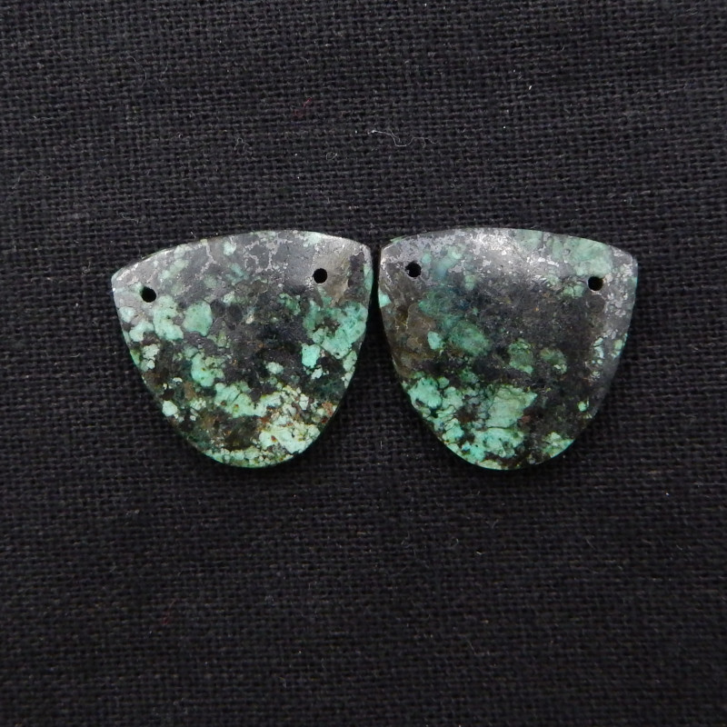 39cts African Turquoise Earrings,Handmade Gemstone ,Turquoise Earrings H999