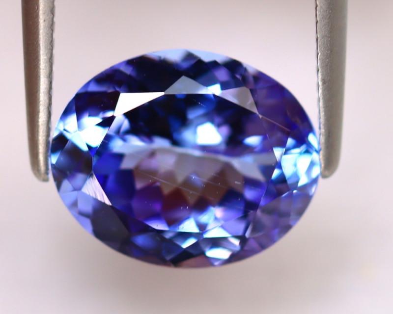 Tanzanite 2.81Ct Natural VVS Purplish Blue Tanzanite DR493/D4