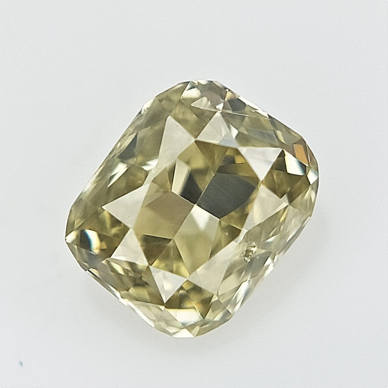 0.10 CTS , Cushion Brilliant Cut , Natural Light Color Diamond