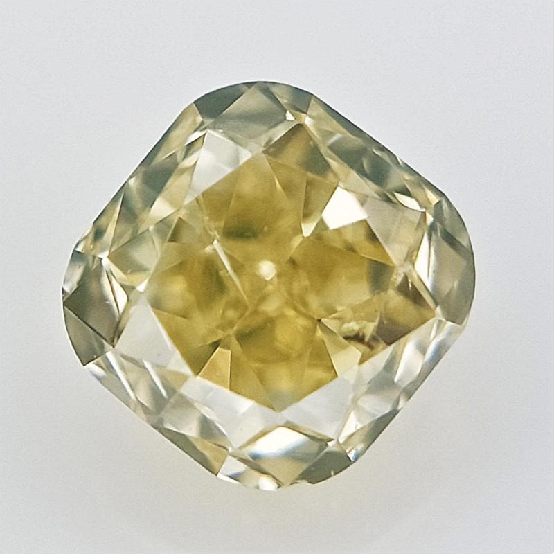 0.12 cts , Cushion Brilliant Cut , Natural Light Colored Diamond