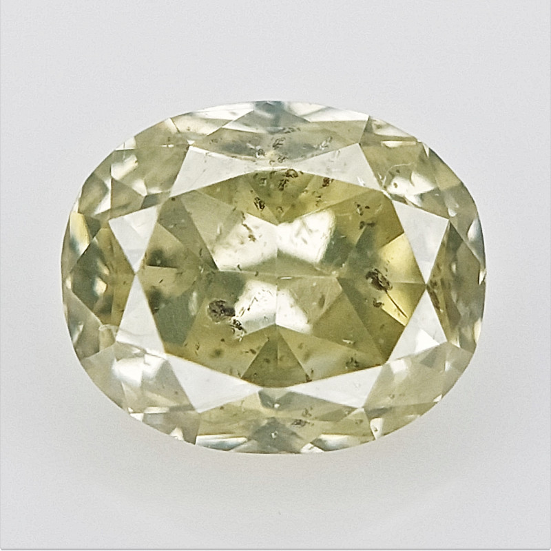 0.12 cts , Natural Colored Diamond , Light Color