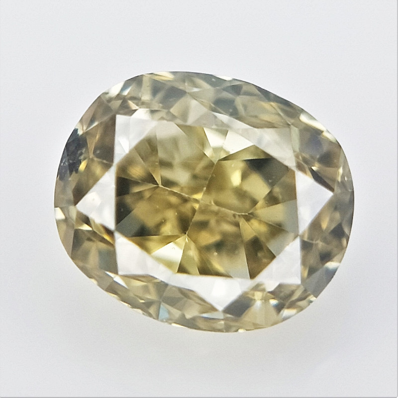 0.13 cts , Oval Brilliant Cut , yellow Cut