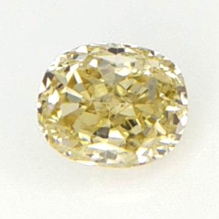 0.13 cts , Yellow Color Diamond , Oval Brilliant Cut