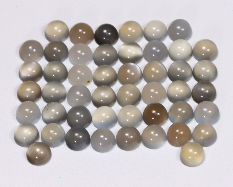 Moonstone 26.17Ct Natural Play Of Color Gray Moonstone Lot B3629