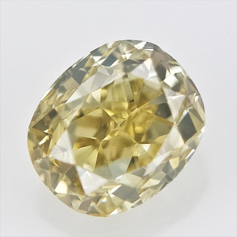 0.12 cts ,Oval Brilliant Diamond , Loose Yellow Diamond
