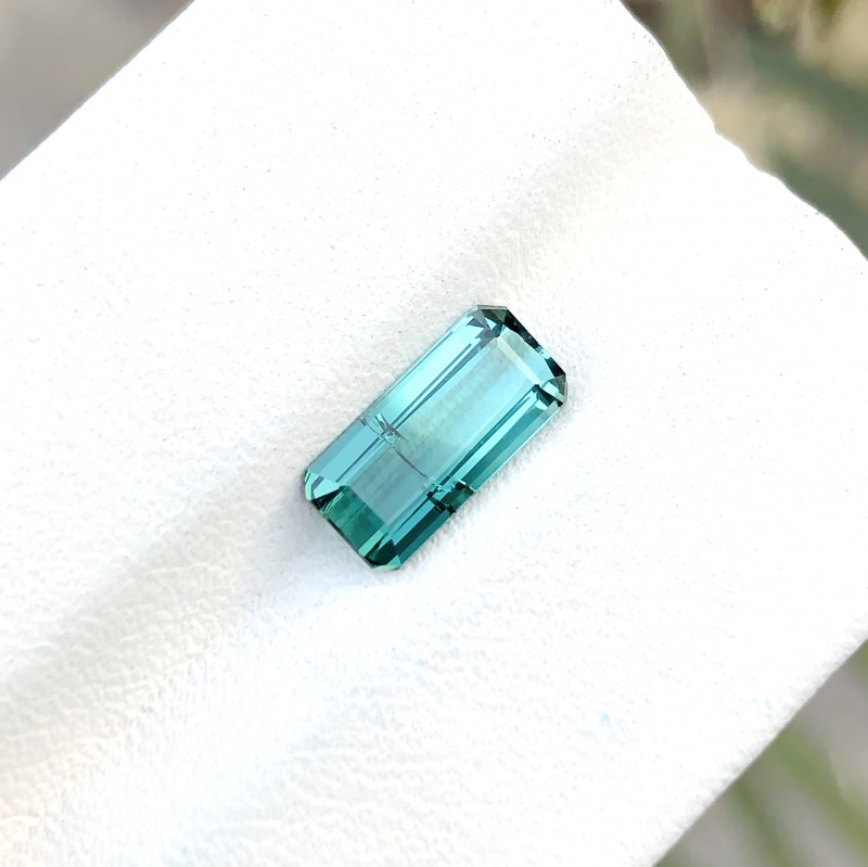 1.40 Ct Natural Bi Color  Transparent Ring Size Tourmaline Gemstone