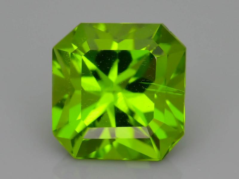 AAA Peridot  3.71 ct Deep Green Color SKU.7