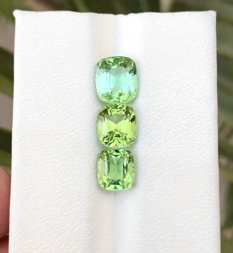 4.55 Ct Natural Green Transparent Tourmaline Gemstones Parcels
