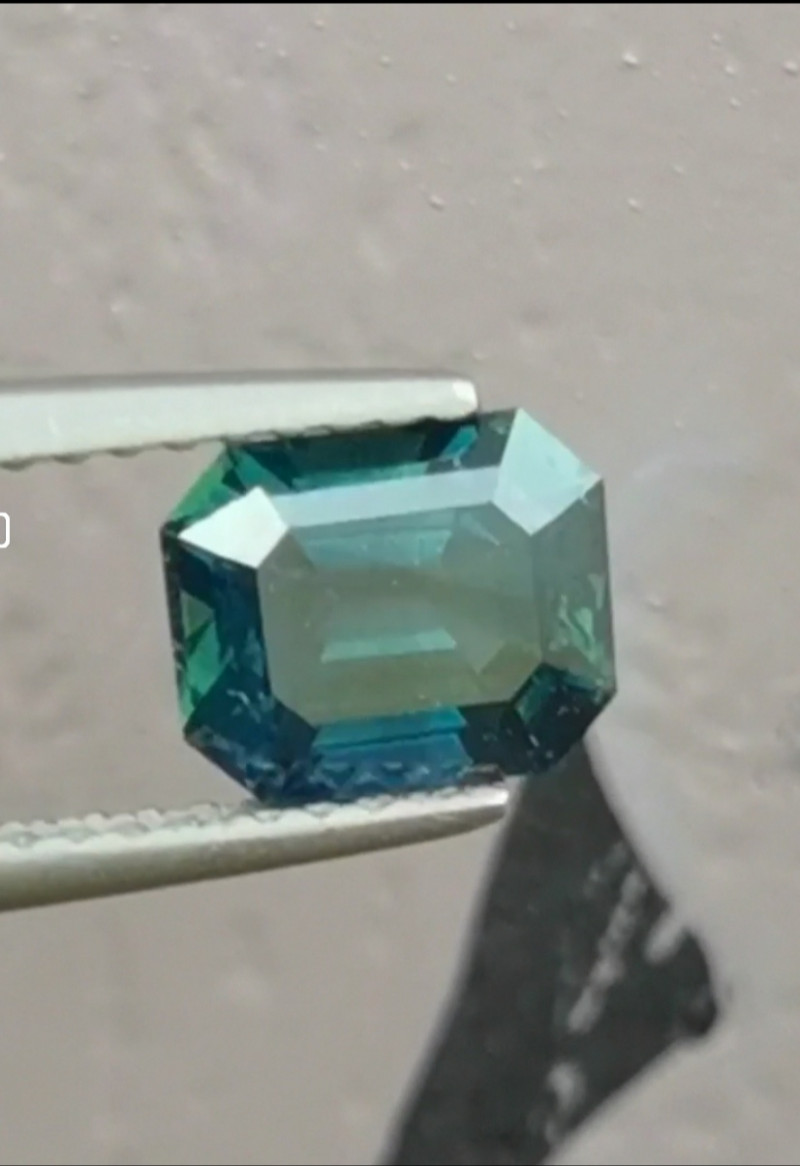 1.65ct unheated teal-blue sapphire from Nigeria