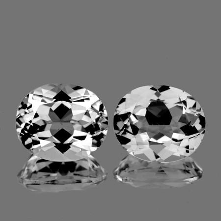 11x9 mm Oval 2 pcs 9.03cts White Topaz [VVS]
