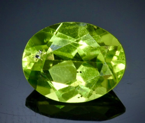 1.97 Crt Natural  Peridot Faceted Gemstone.( AB 48)