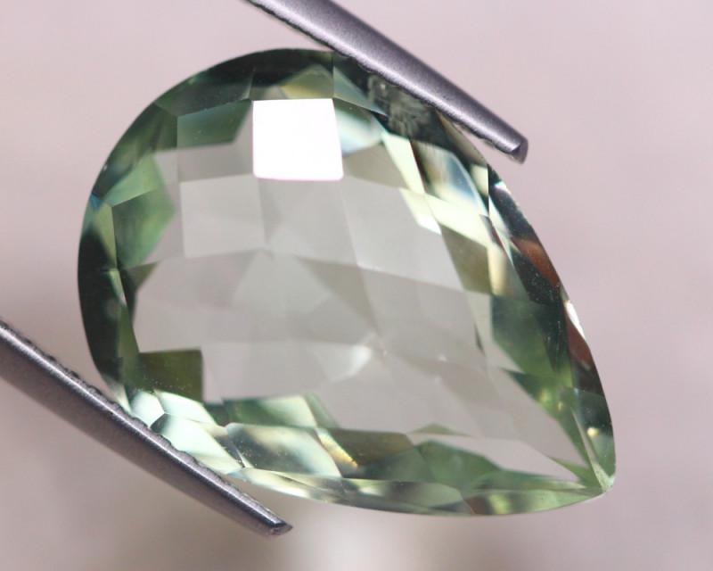 9.84ct Natural Green Prasiolite  Pear Cut Lot V8433