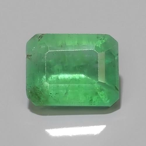 1.60 CTS STUNNING SUPER GREEN COLOUR 100% NATURAL EMERALD ZAMBIA!