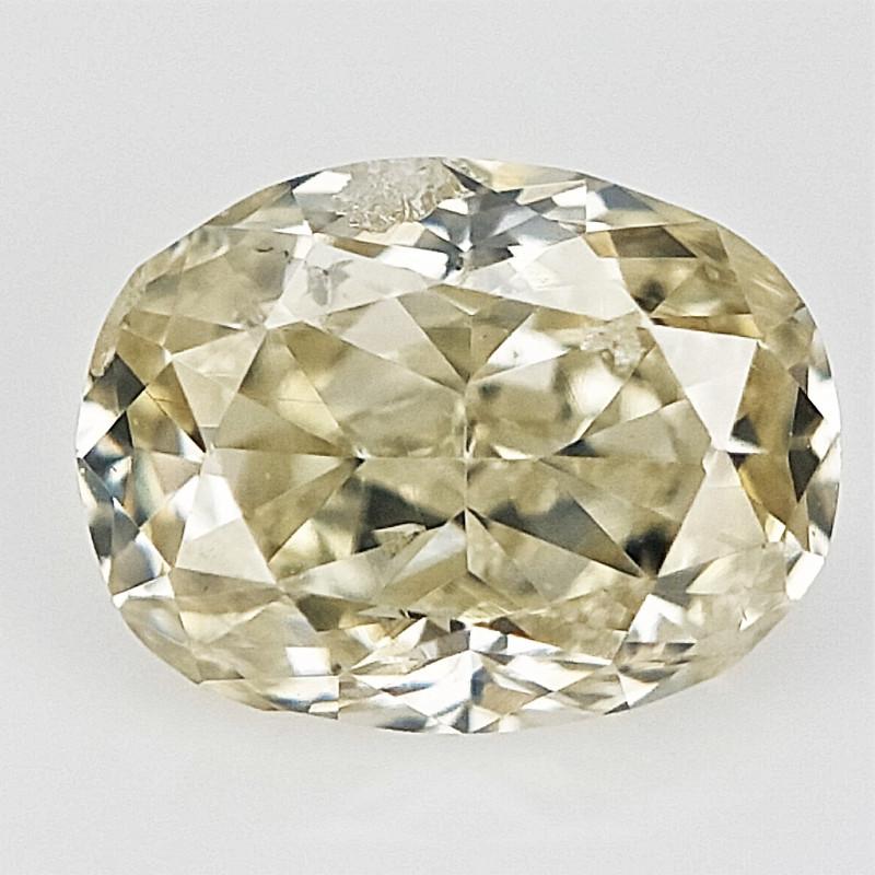 0.14 cts , Light Color Diamond , Oval Brilliant Cut