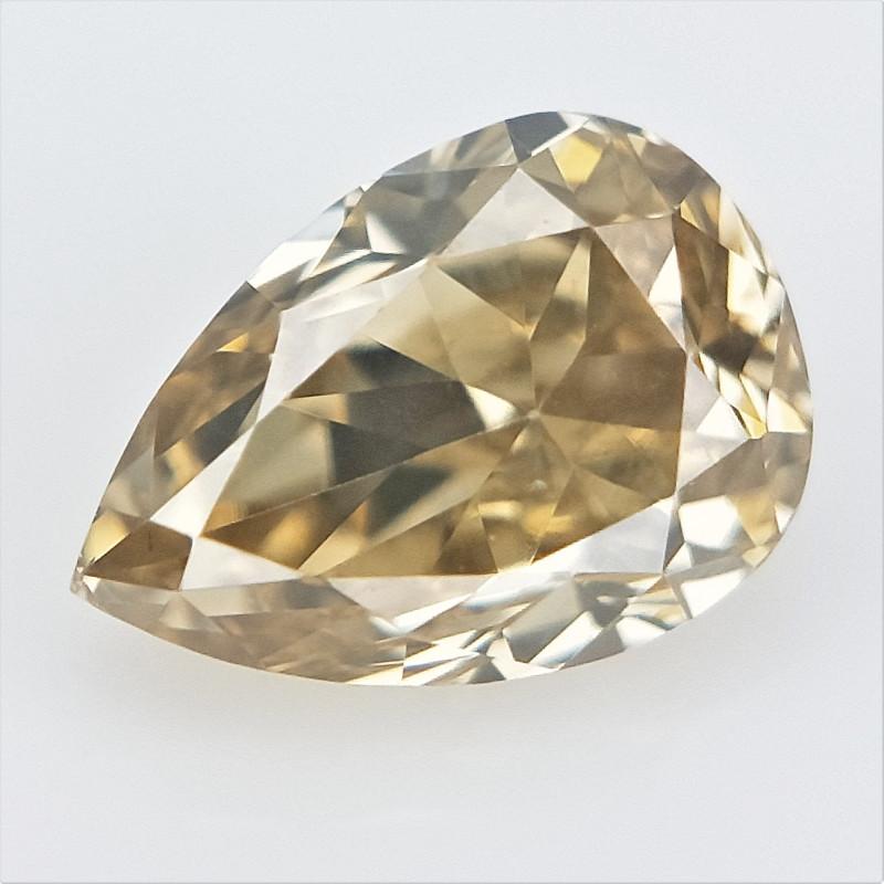 0.15 cts , Light Colored Diamond , Brown Natural Diamond