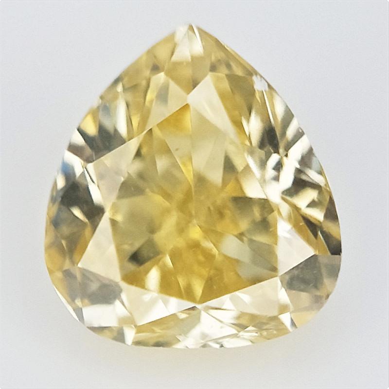 0.17 cts , Natural Pear Diamond , Loose Color Diamond