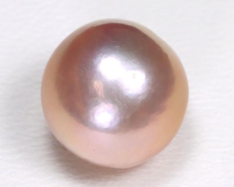South Sea Pearl 10.7mm Natural Australian Pink Salt Water Pearl B3747