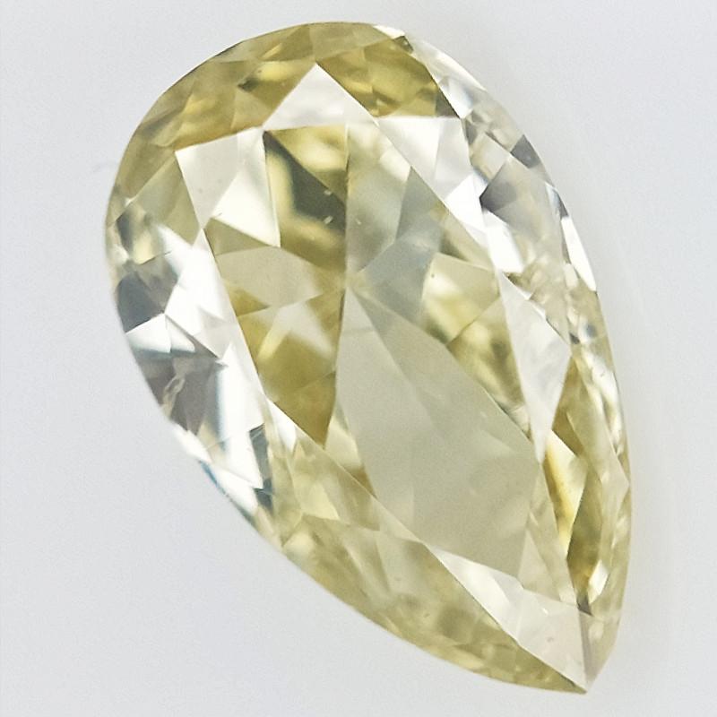 0.13 cts , Light Colored Diamond , Teardrop Diamond