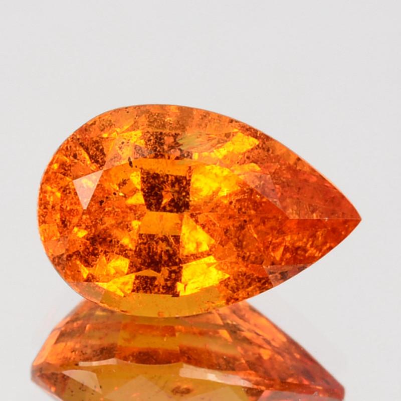 2.79 Cts Unheated Natural Mandarin Orange Spessartite Garnet Pear Namibi