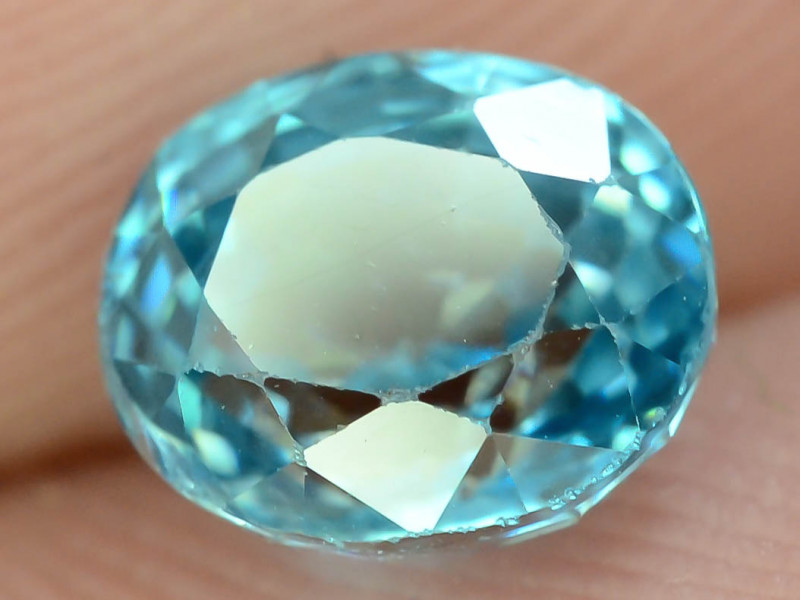 AAA Brilliance 1.70 ct Blue Zircon Cambodia ~K