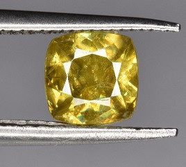 A Beautiful Yellow Sphene 0.65 CTS