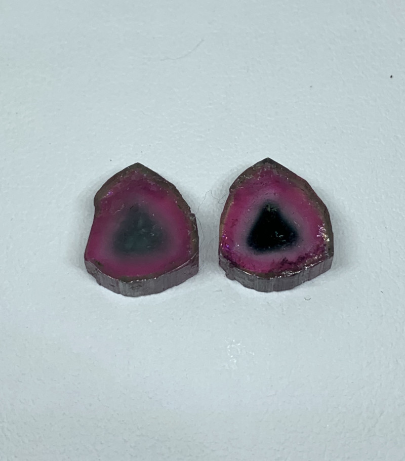 11.00 Cts Natural Tourmaline slices two side polished Gemstone