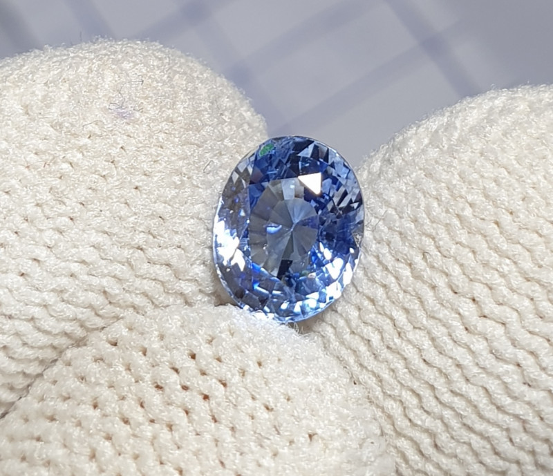 UNHEATED CERTIFIED 1.44 CTS NATURAL BEAUTIFUL BLUE SAPPHIRE CEYLON SRI LANK