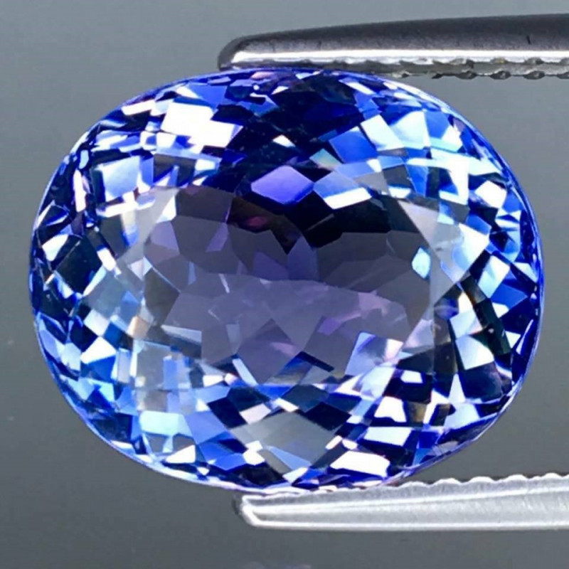 8.72  Ct. Natural Earth Mined Tanzanite  Unheated - IGE - CERTIFIED