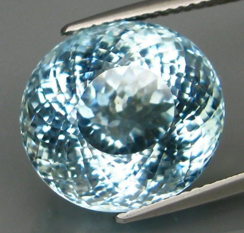 Unheated - 12.53  ct Natural Blue Aquamarine – IGI Certificate