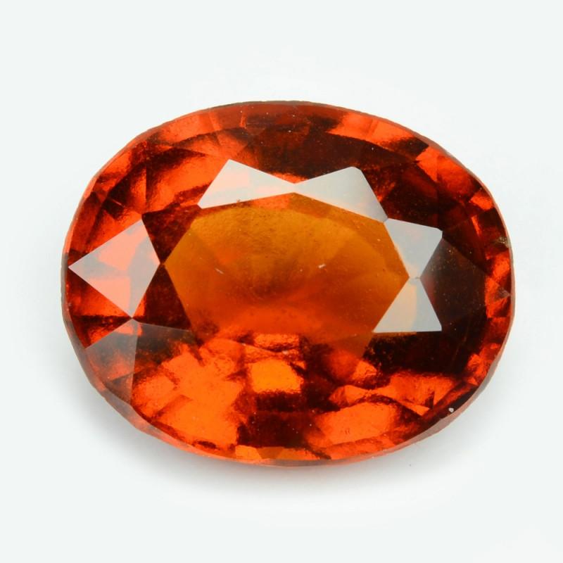 Hessonite Garnet 4.11  Cts Orange Red Color Natural Gemstone