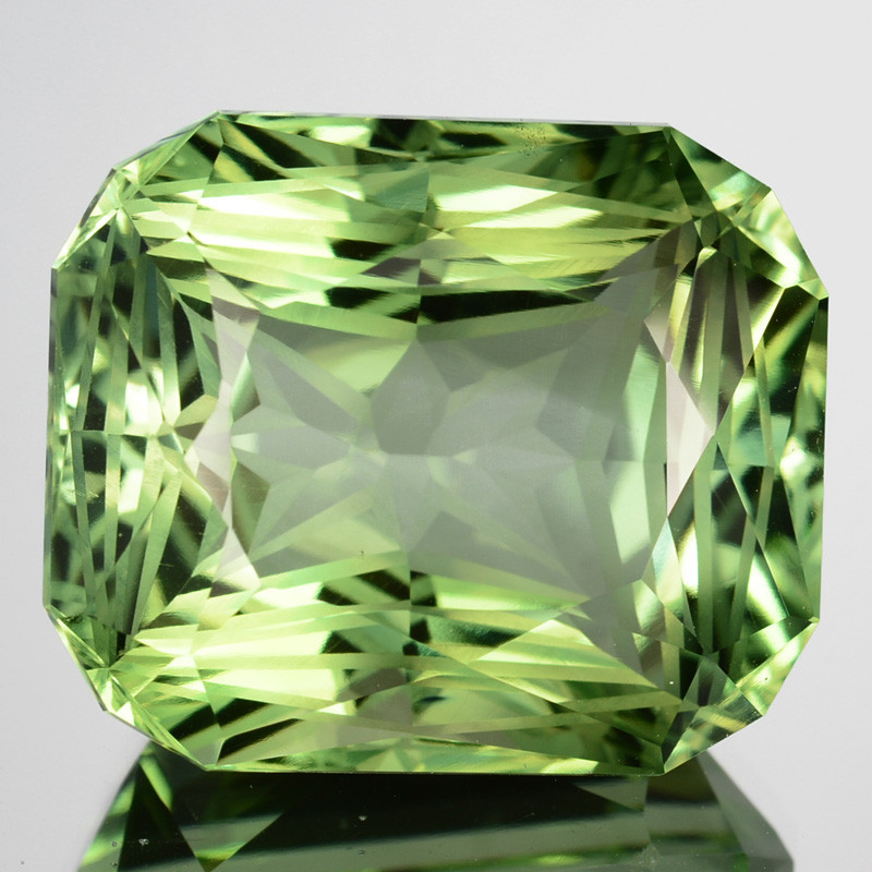 ~CUSTOM CUT~ 36.65 Cts Natural Prasiolite / Amethyst Fancy Cut Brazil