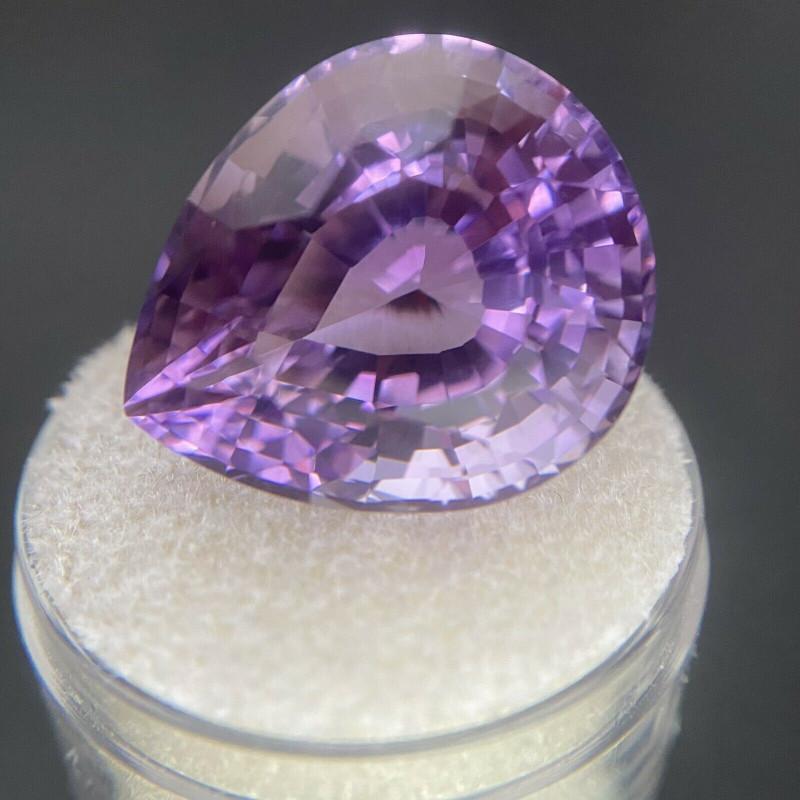 FINE Purple Amethyst 27.00ct Pear Cut Loose Quartz Gem 21.2x17.8mm