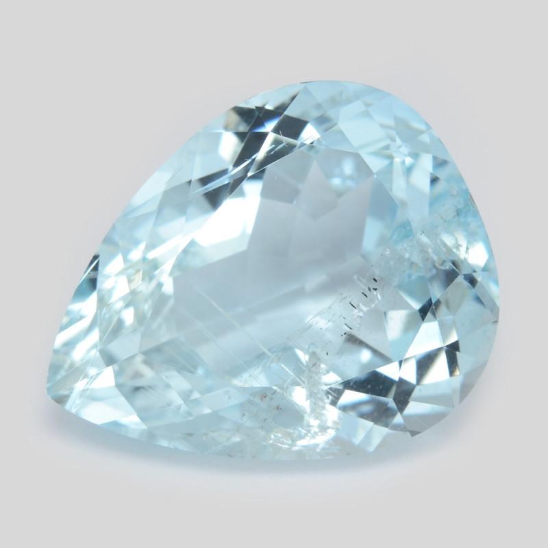 9.92 Cts Un Heated Blue  Natural Aquamarine Loose Gemstone
