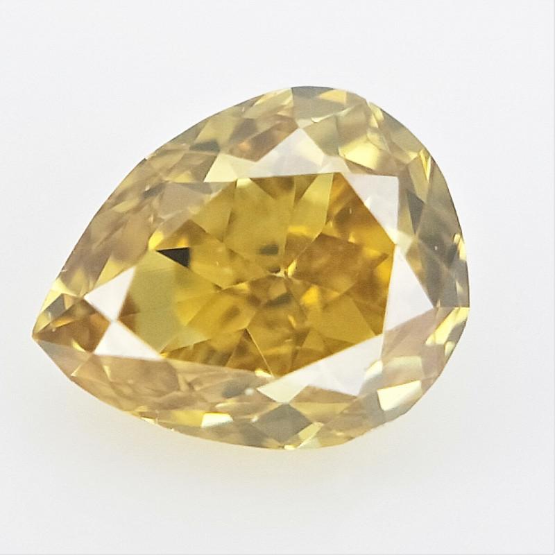 0.08 cts , Natural Colored Diamond ,Loose Pear Cut