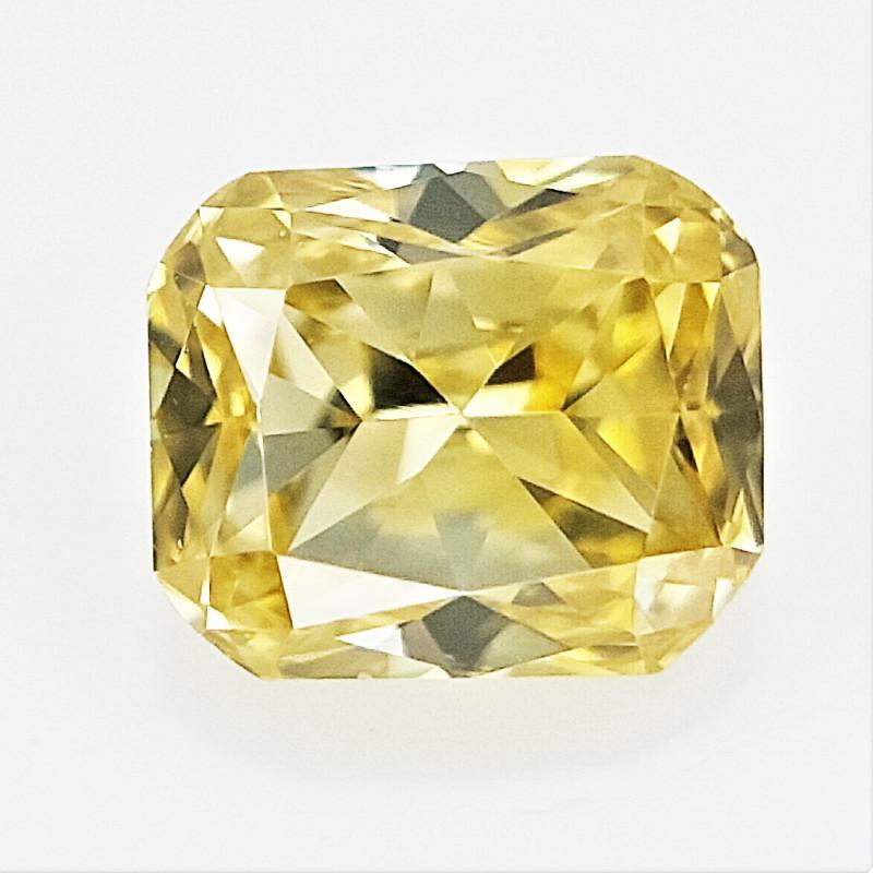 0.06 cts , Natural Yellow Diamond , Cushion Brilliant CUt