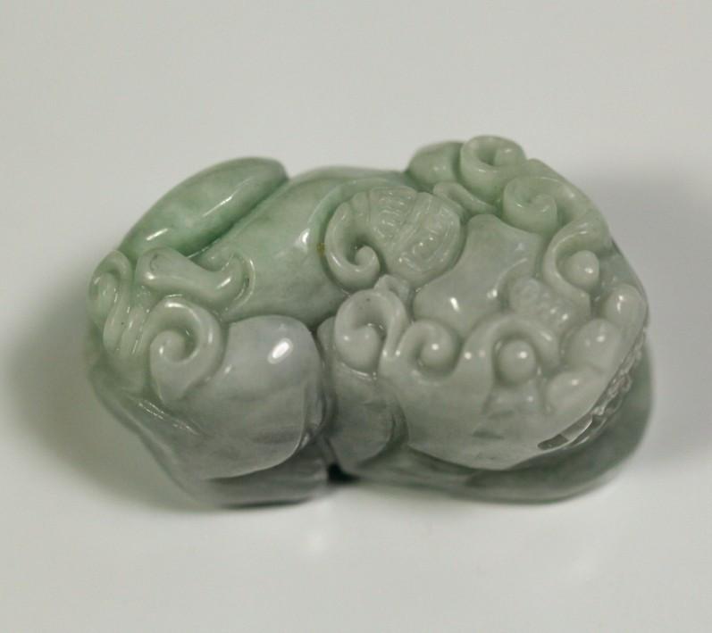 Natural Grade A Jadeite Jade Brave Troops Carving