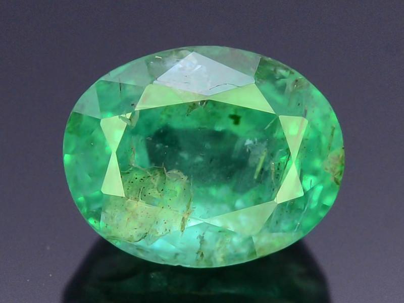 Top Color & Clarity 1.10 ct Emerald~Zambia SJ1
