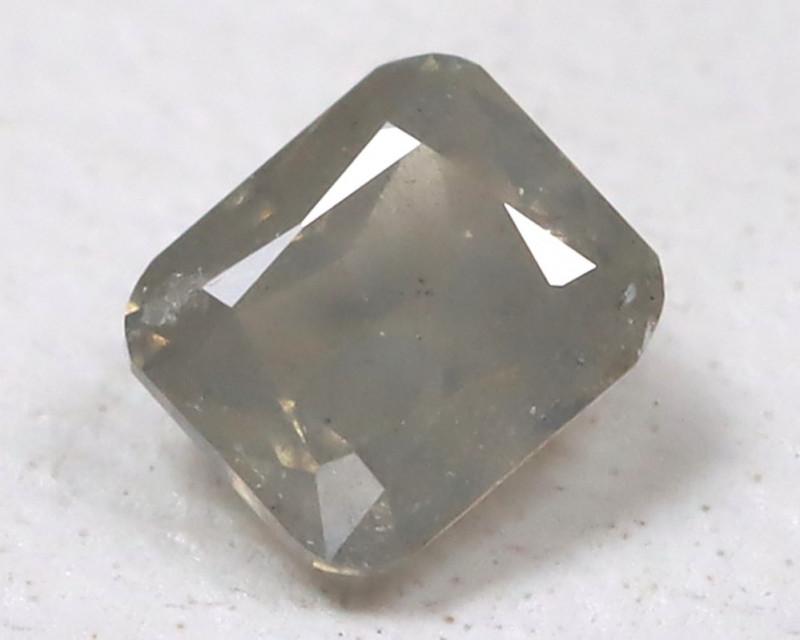 Gray Diamond 0.11Ct Natural Untreated Fancy Diamond AB4614