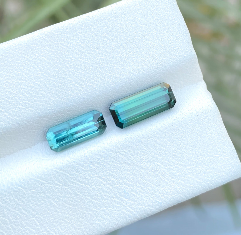 2.80 Ct Natural Bi Color & Blue Transparent Tourmaline Gems Parcels