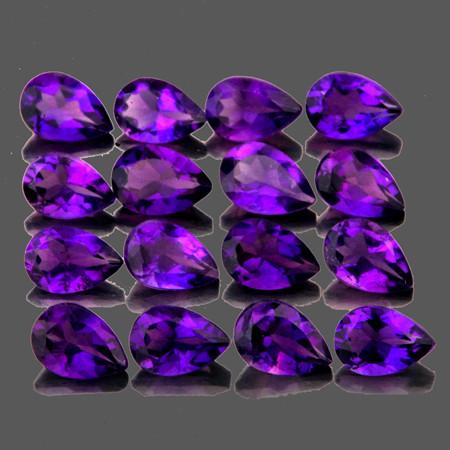 4x3 mm Pear 16 pcs 2.11cts Purple Amethyst [VVS]