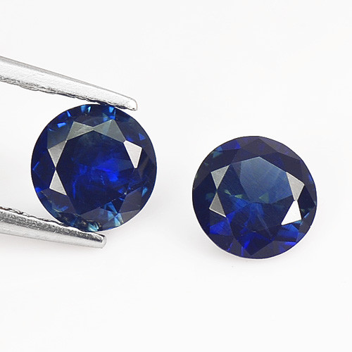 Ceylon Sapphire 1.18 Cts 2 Pcs Blue Color Natural Fancy Gemstone